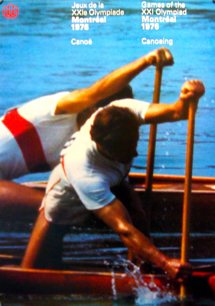 1976 Montreal Olympics Poster, Canoeing (large) - COJO