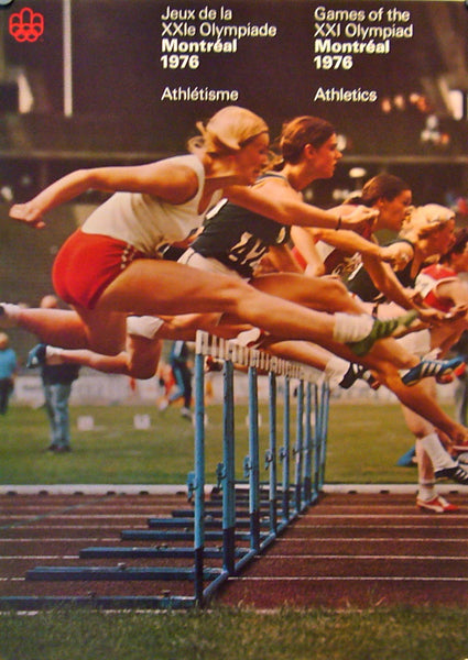 1976 Montreal Olympics Poster, Athletics (large) - COJO