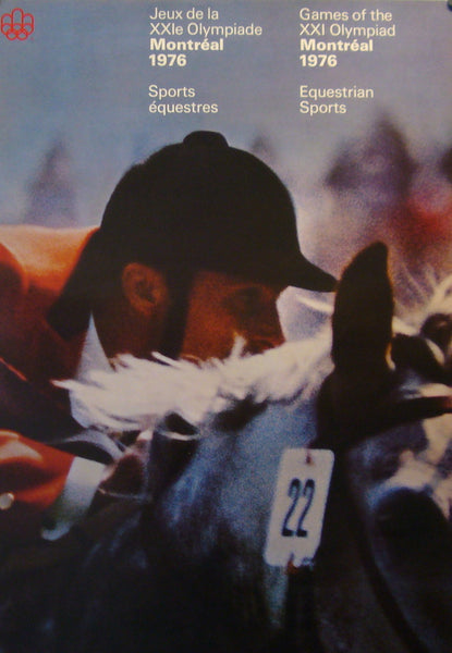 1976 Montreal Olympics Poster - Equestrian - COJO