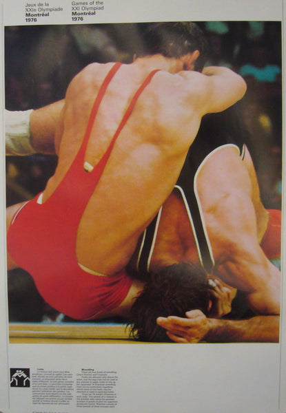 1976 Montreal Olympic Poster, Double-sided, Boxing/Wrestling - COJO