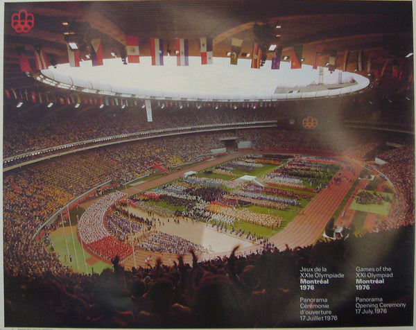 1976 Montreal Olympics Poster, Opening Panorama Shot (large)
