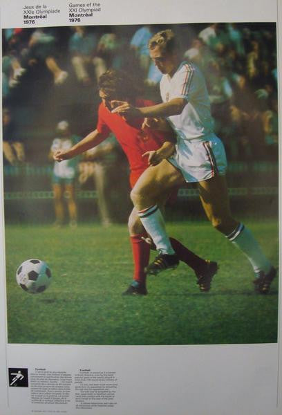1976 Montreal Olympic Poster, Double-sided, Football/Weightlifting - COJO