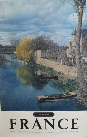 1950s Vintage French Travel Poster, Val de Loire