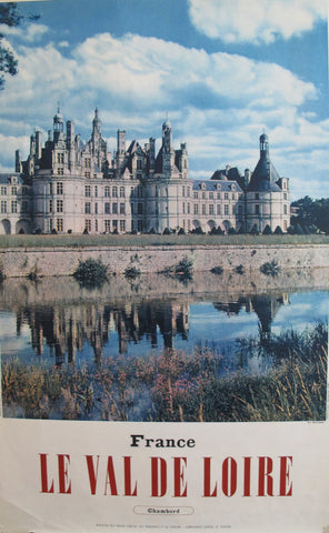 1950s Vintage French Travel Poster, Chambord, Val de Loire