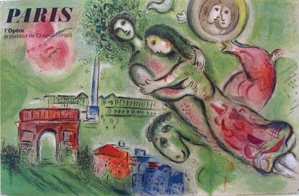 1964 Original French Marc Chagall Poster, Romeo and Juliet
