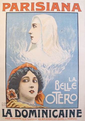 1903 Original French Art Nouveau Poster - Parisiana La Dominicaine