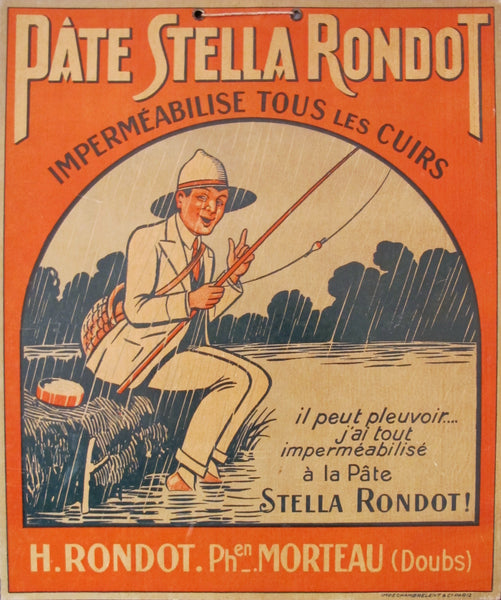 1920s Original French Advertising Carton, Pate Stella Rondot