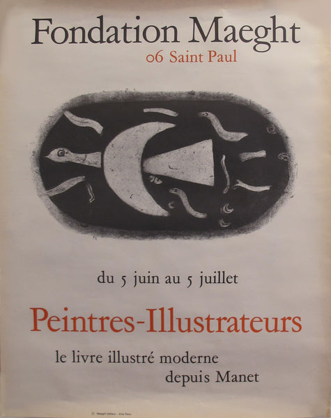 1960 Original Exhibition Poster - Peintres-Illustrateurs - Fondation Maeght