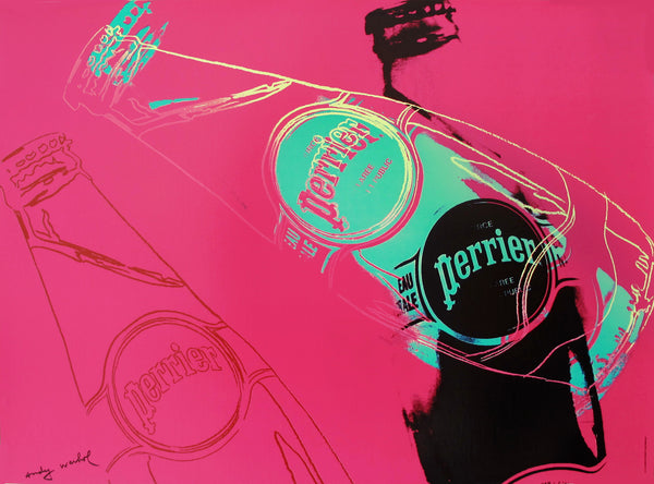 1983 Original Andy Warhol Pop Art Poster, Pink Perrier Advertisement