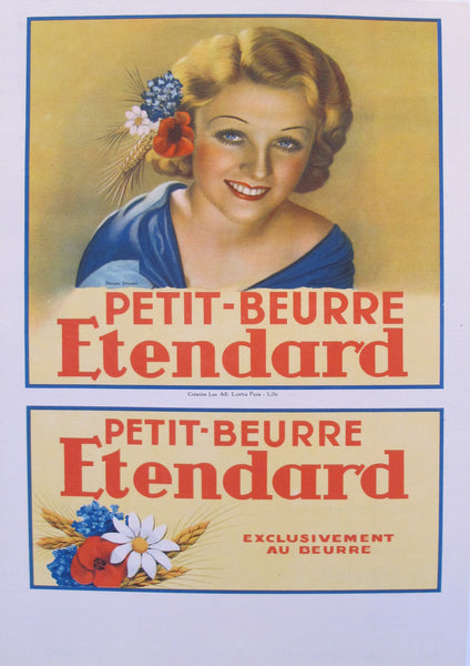 1930s Original French Poster, Biscuit Petit Beurre