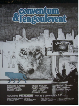 1980s Montreal Contemporary Poster, Conventum & L'Engoulevent