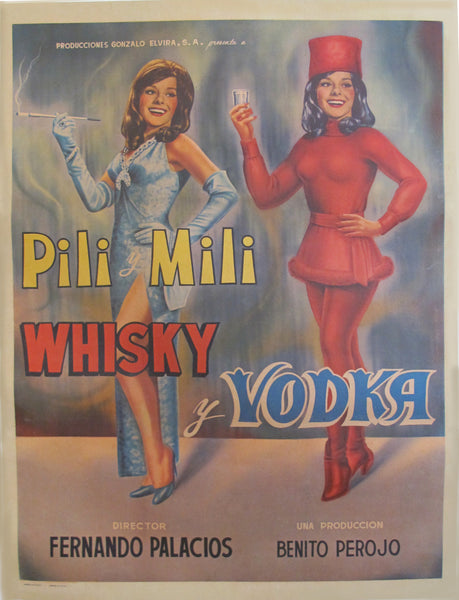 1965 Original Mexican Movie Poster, Pili Mili Whisky y Vodka