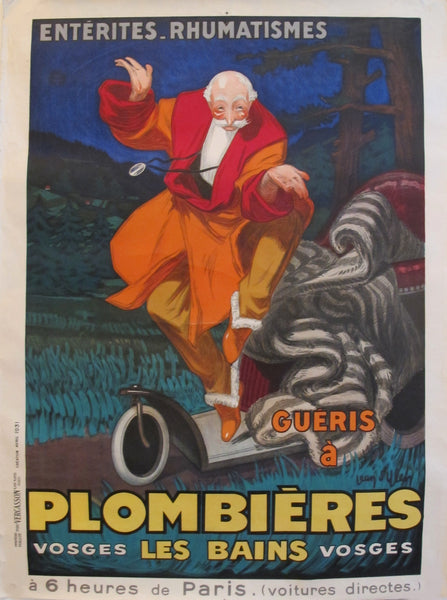 1931 Vintage French Travel Poster, Plombieres Les Bains by Jean D'Ylen (unlined)