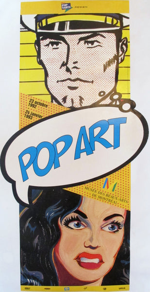 1992 Pop Art Exhibition Poster, Montreal Musem of Fine Arts