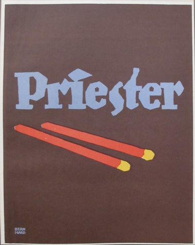 1927 Vintage German Mini Poster, Priester Match