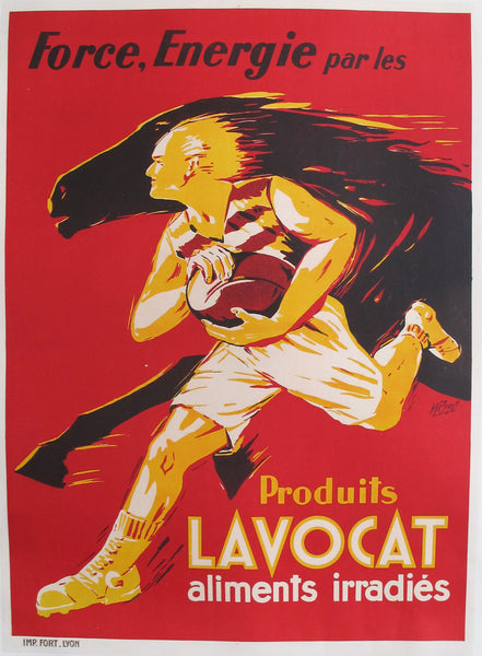 1930s French Art Deco Food Poster, Produits Lavocat