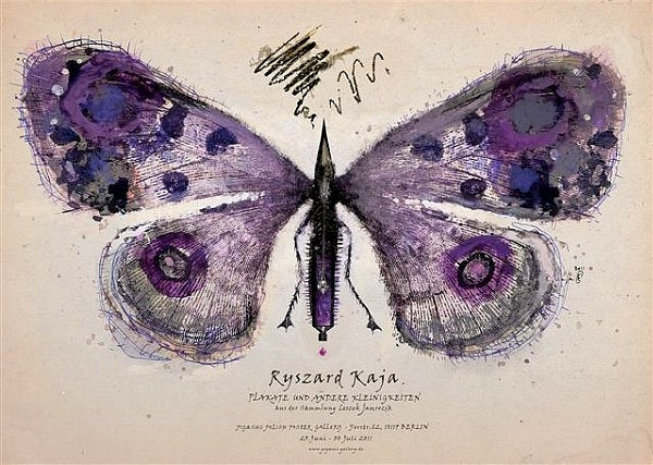 2011 Original Polish Exhibition Poster, Purple Butterfly