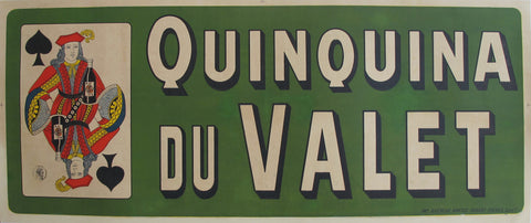 1900s Vintage French Alcohol Poster, Quinquina du Valet