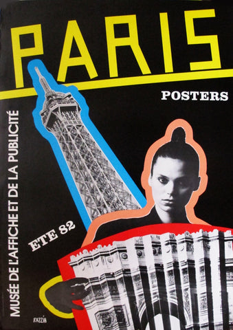1982 French Razzia Exhibition Poster, Paris Posters