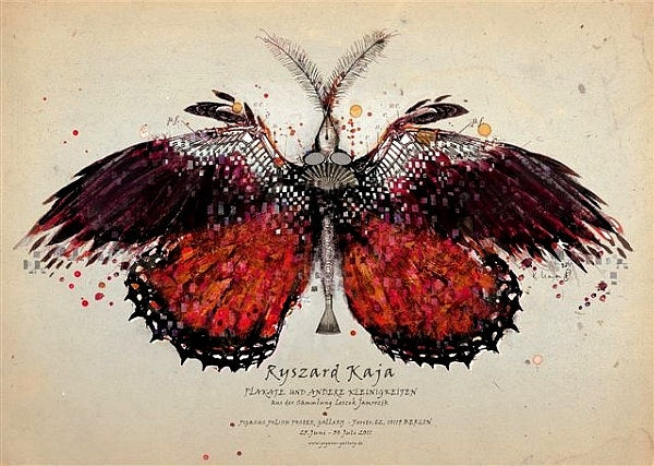 2011 Original Polish Exhibition Poster, Red Butterfly
