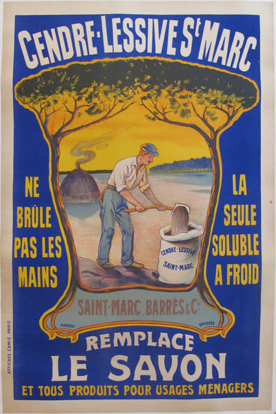 1920s Original French Poster - Cendre Lessive St-Marc Cleaner