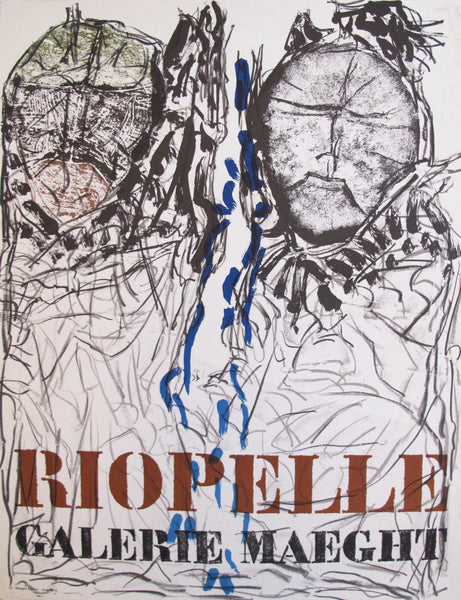 1974 French Exhibition Poster, Riopelle