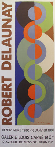1980 Robert Delaunay Exhibition Poster, Galerie Louis Carre
