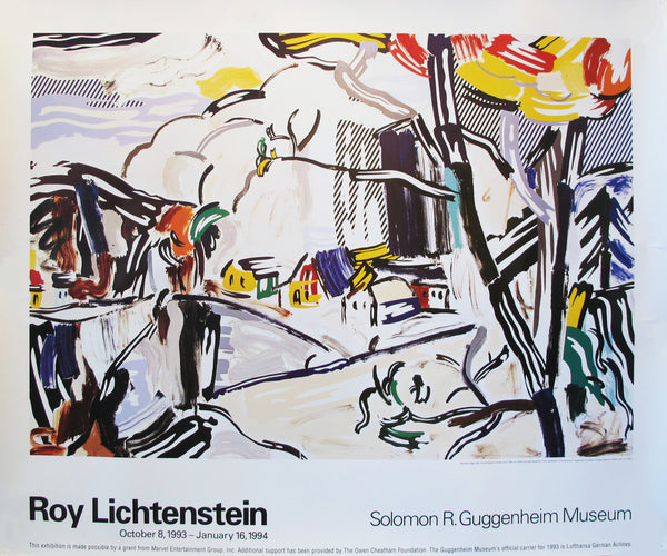 1994 Roy Lichtenstein Guggenheim Exhibition Poster