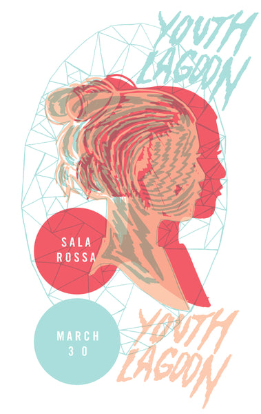 2012 Contemporary Music Poster, Youth Lagoon, Sala Rosa