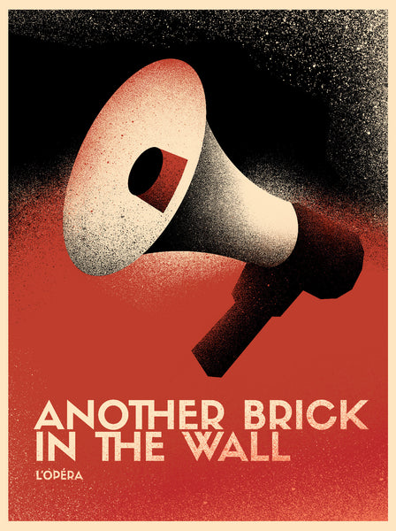 2017 Contemporary Pink Floyd Poster, Another Brick in the Wall Opera, Megaphone