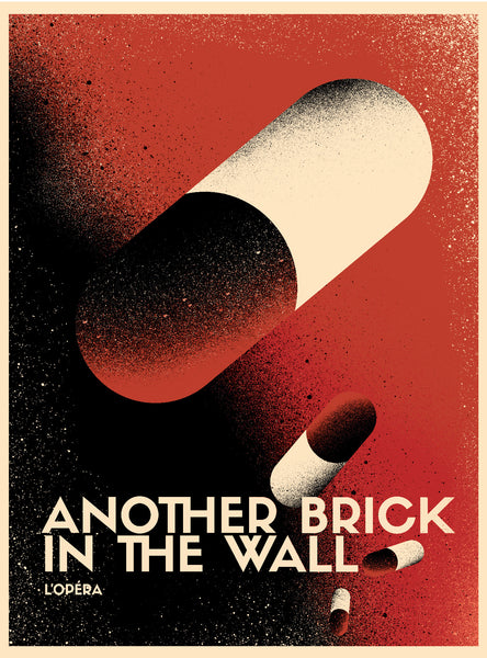 2017 Contemporary Pink Floyd Poster - Another Brick in the Wall Opera, Pills
