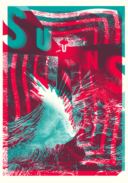 2016 Contemporary Music Poster - Suuns by Lepine