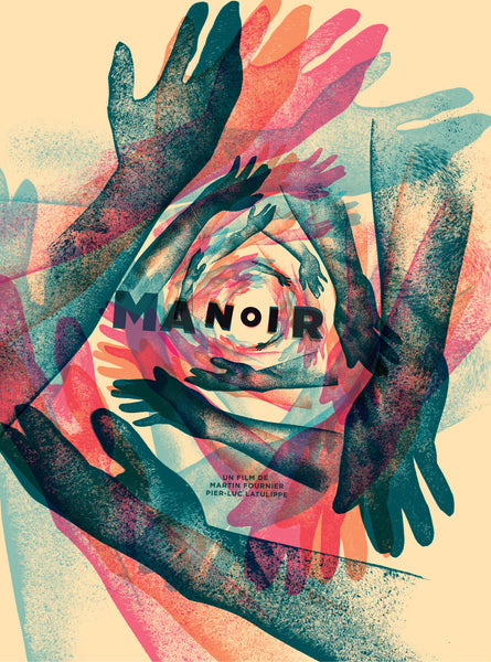 2016 Contemporary Movie Poster - Manoir, film by Martin Fournier and Pier-Luc Latulippe