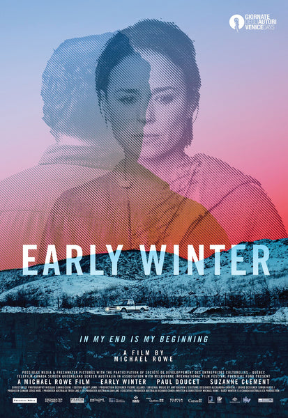 2015 Contemporary Movie Poster - Early Winter by Michael Rowe (On Peach-Coloured Paper)