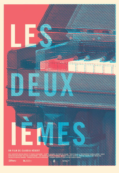 2016 Contemporary Film Poster, Les Deuxiemes (Red and Blue)