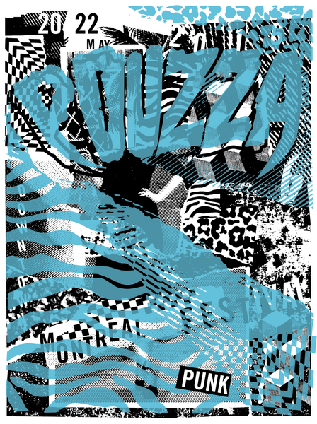 2016 Contemporary Music Poster - Pouzza Punk Festival (Blue)