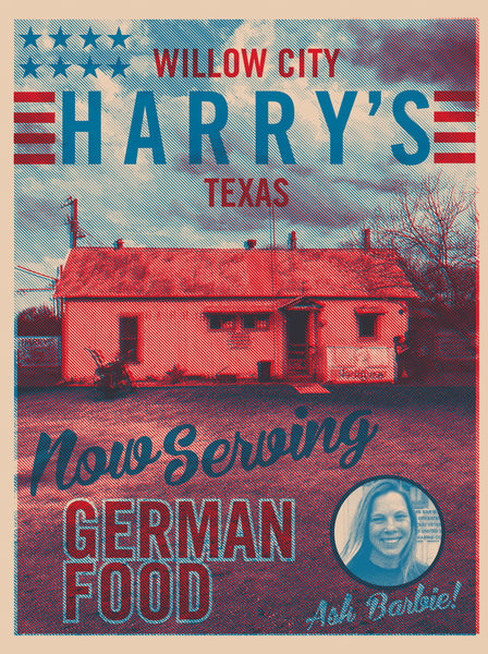 2018 Contemporary Texas Souvenir Poster - Harry's on the Loop