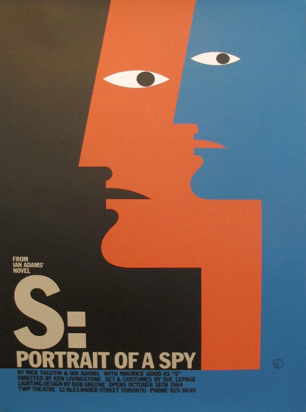1980s Original Canadian Poster -  S: Portrait of a Spy by Theo Dimson