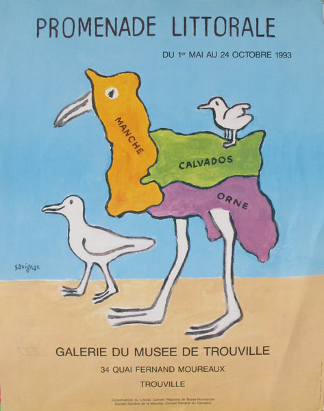 1993 Original French Poster, Promenade Littorale