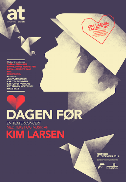 2014 Contemporary Danish Poster, Mads Berg - Kim Larsen
