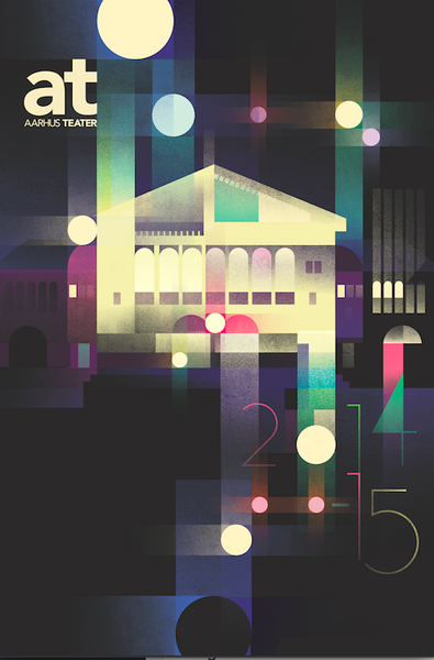2014 Contemporary Danish Poster, Aarhus Teater