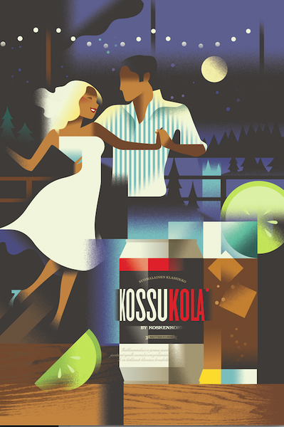 2014c. Contemporary Danish Poster, KossuKola