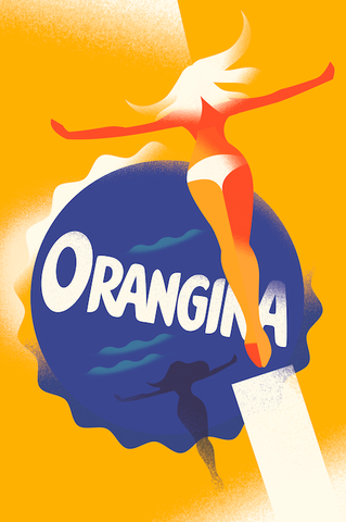 2014c. Contemporary Danish Poster, Mads Berg - Orangina