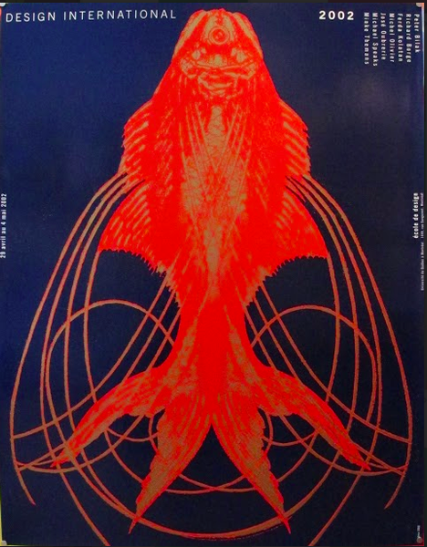 2002 Original Design International UQAM Poster (Red Fish) - Alfred Halasa