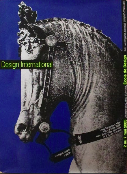 2005 Original Design International UQAM Poster (Horse) - Alfred Halasa