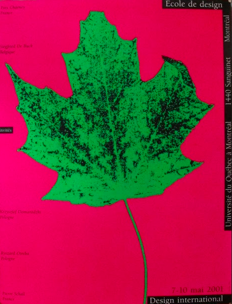 2001 Original Design International Poster, Leaf - Alfred Halasa