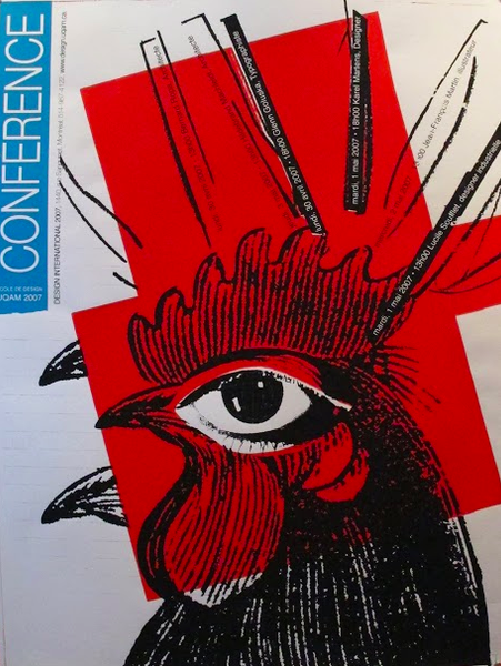 2007 Original Design International Conference Poster, Rooster - Alfred Halasa