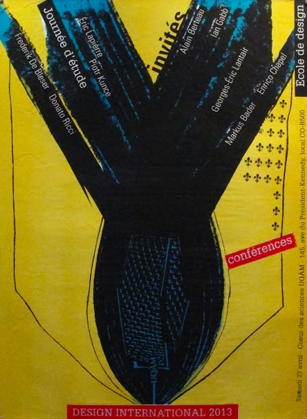 2013 Original Design International Poster, (Yellow) - Alfred Halasa