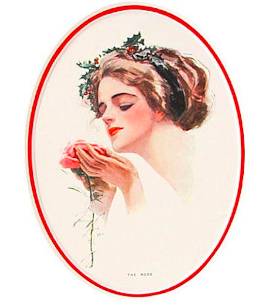 "1920's Original American 'Fisher Girl' Print, ""The Rose"" - Harrison Fisher"