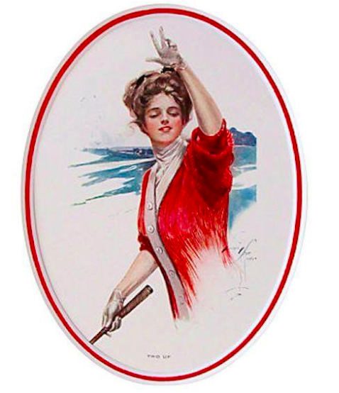 "1920's Original American 'Fisher Girl' Print, ""Two Up"" - Harrison Fisher"